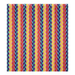 Colorful Chevron Retro Pattern Shower Curtain 66  X 72  (large)  by DanaeStudio