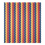 Colorful Chevron Retro Pattern Shower Curtain 66  x 72  (Large)  58.75 x64.8 Curtain