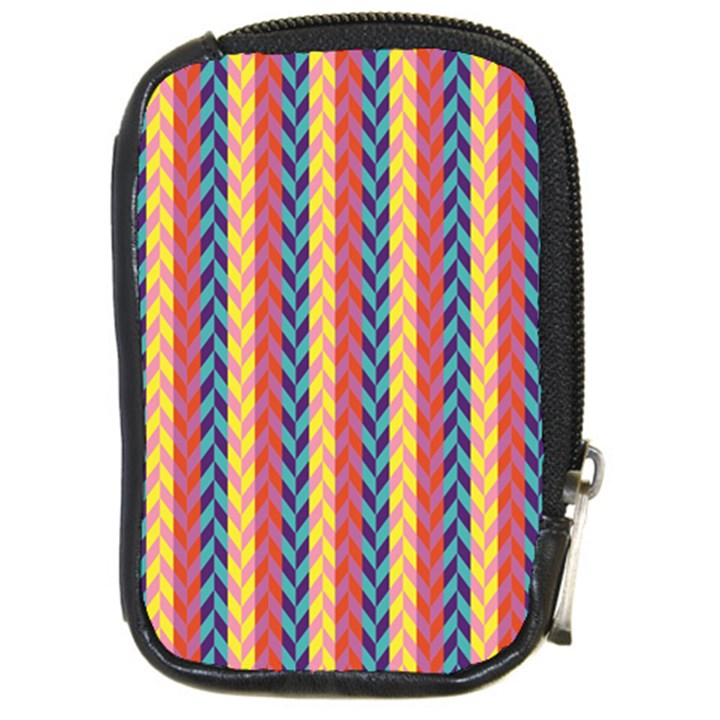 Colorful Chevron Retro Pattern Compact Camera Cases
