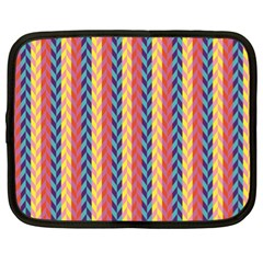 Colorful Chevron Retro Pattern Netbook Case (xl)  by DanaeStudio