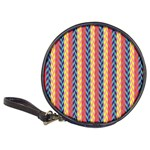 Colorful Chevron Retro Pattern Classic 20-CD Wallets Front
