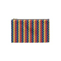 Colorful Chevron Retro Pattern Cosmetic Bag (small)  by DanaeStudio