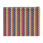 Colorful Chevron Retro Pattern Cosmetic Bag (XL) Back