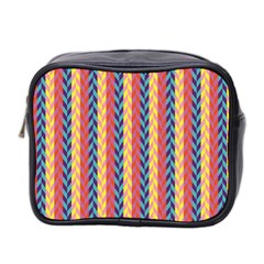 Colorful Chevron Retro Pattern Mini Toiletries Bag 2 Side by DanaeStudio