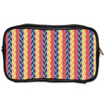 Colorful Chevron Retro Pattern Toiletries Bags 2-Side