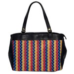 Colorful Chevron Retro Pattern Office Handbags Front