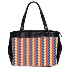 Colorful Chevron Retro Pattern Office Handbags (2 Sides)  by DanaeStudio