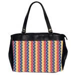 Colorful Chevron Retro Pattern Office Handbags (2 Sides)