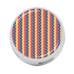 Colorful Chevron Retro Pattern 4 Port Usb Hub (one Side)