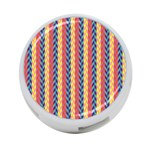 Colorful Chevron Retro Pattern 4-Port USB Hub (Two Sides)  Front