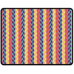 Colorful Chevron Retro Pattern Fleece Blanket (medium)  by DanaeStudio