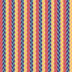 Colorful Chevron Retro Pattern Magic Photo Cubes Side 4