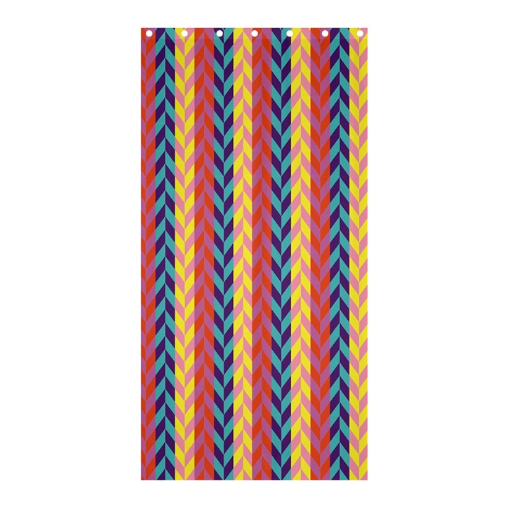 Colorful Chevron Retro Pattern Shower Curtain 36  x 72  (Stall)