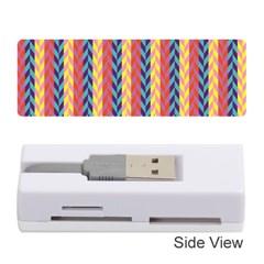 Colorful Chevron Retro Pattern Memory Card Reader (Stick)