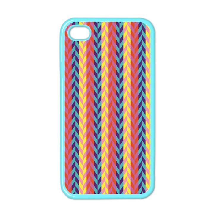 Colorful Chevron Retro Pattern Apple iPhone 4 Case (Color)