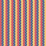 Colorful Chevron Retro Pattern PARTY 3D Greeting Card (8x4) Inside