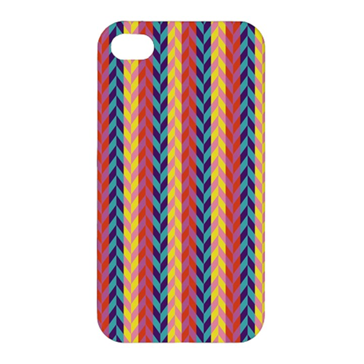 Colorful Chevron Retro Pattern Apple iPhone 4/4S Hardshell Case
