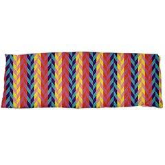 Colorful Chevron Retro Pattern Body Pillow Case (dakimakura) by DanaeStudio