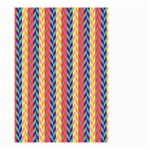 Colorful Chevron Retro Pattern Small Garden Flag (Two Sides) Back