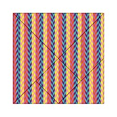 Colorful Chevron Retro Pattern Acrylic Tangram Puzzle (6  X 6 ) by DanaeStudio