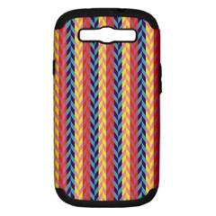 Colorful Chevron Retro Pattern Samsung Galaxy S Iii Hardshell Case (pc+silicone) by DanaeStudio