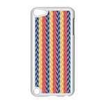 Colorful Chevron Retro Pattern Apple iPod Touch 5 Case (White) Front