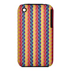 Colorful Chevron Retro Pattern Apple Iphone 3g/3gs Hardshell Case (pc+silicone)