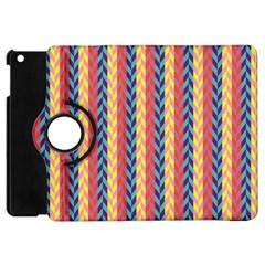 Colorful Chevron Retro Pattern Apple Ipad Mini Flip 360 Case