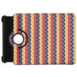 Colorful Chevron Retro Pattern Kindle Fire HD Flip 360 Case