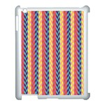 Colorful Chevron Retro Pattern Apple iPad 3/4 Case (White) Front