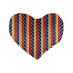 Colorful Chevron Retro Pattern Standard 16  Premium Heart Shape Cushions Front