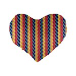 Colorful Chevron Retro Pattern Standard 16  Premium Heart Shape Cushions Back