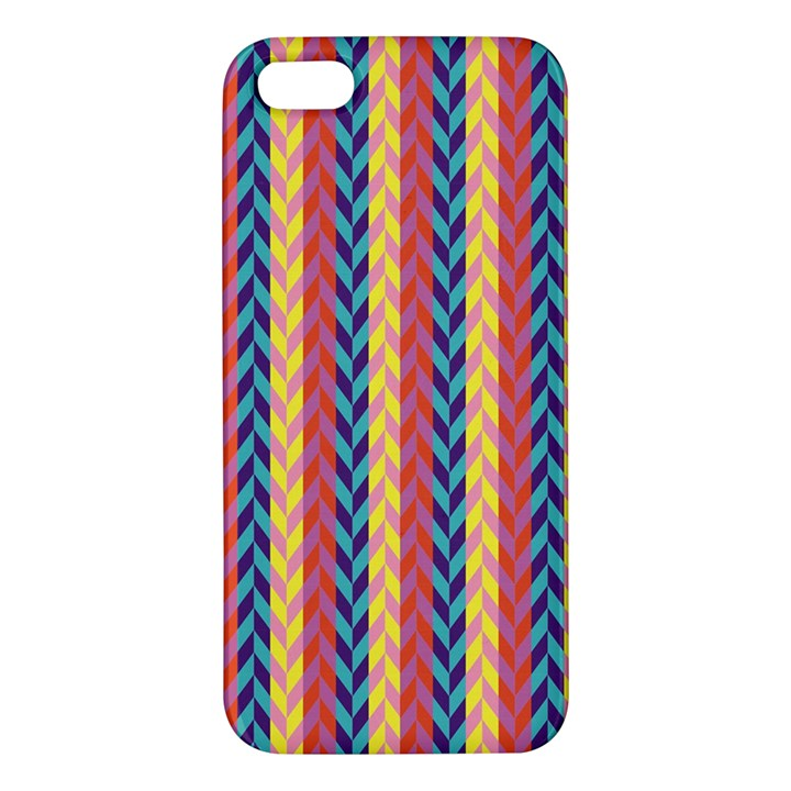 Colorful Chevron Retro Pattern Apple iPhone 5 Premium Hardshell Case