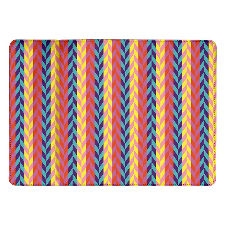 Colorful Chevron Retro Pattern Samsung Galaxy Tab 10.1  P7500 Flip Case
