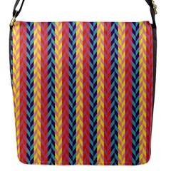 Colorful Chevron Retro Pattern Flap Messenger Bag (s)