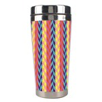 Colorful Chevron Retro Pattern Stainless Steel Travel Tumblers Left