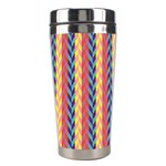 Colorful Chevron Retro Pattern Stainless Steel Travel Tumblers Center