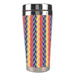 Colorful Chevron Retro Pattern Stainless Steel Travel Tumblers Right