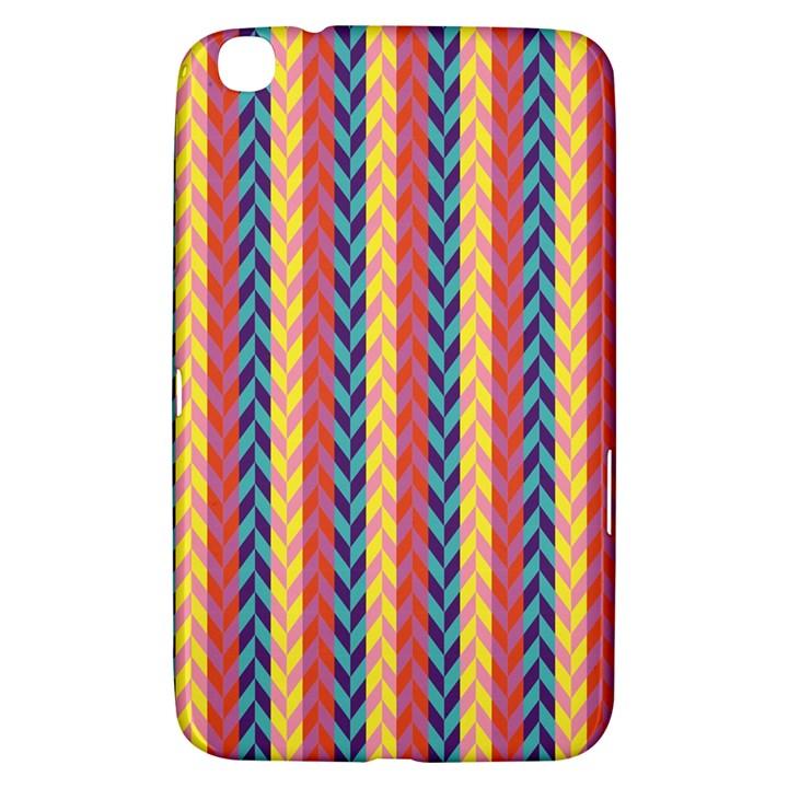 Colorful Chevron Retro Pattern Samsung Galaxy Tab 3 (8 ) T3100 Hardshell Case