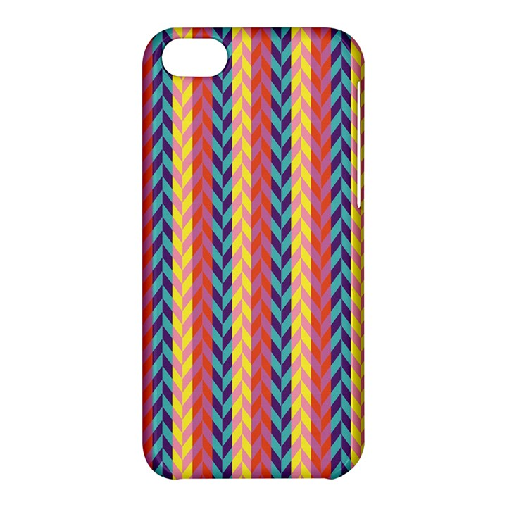 Colorful Chevron Retro Pattern Apple iPhone 5C Hardshell Case