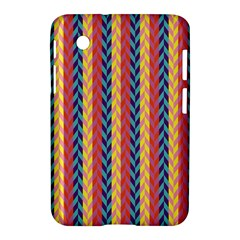 Colorful Chevron Retro Pattern Samsung Galaxy Tab 2 (7 ) P3100 Hardshell Case