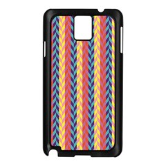 Colorful Chevron Retro Pattern Samsung Galaxy Note 3 N9005 Case (black) by DanaeStudio
