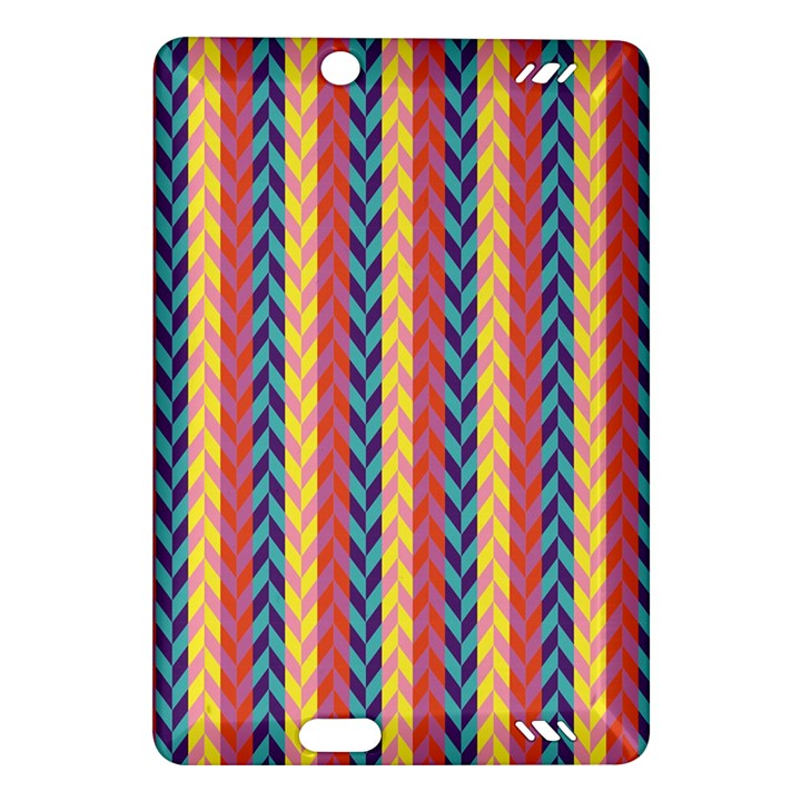 Colorful Chevron Retro Pattern Amazon Kindle Fire HD (2013) Hardshell Case