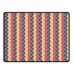 Colorful Chevron Retro Pattern Double Sided Fleece Blanket (Small)