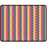 Colorful Chevron Retro Pattern Double Sided Fleece Blanket (Medium)  58.8 x47.4 Blanket Back