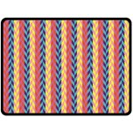 Colorful Chevron Retro Pattern Double Sided Fleece Blanket (Large)  80 x60 Blanket Front
