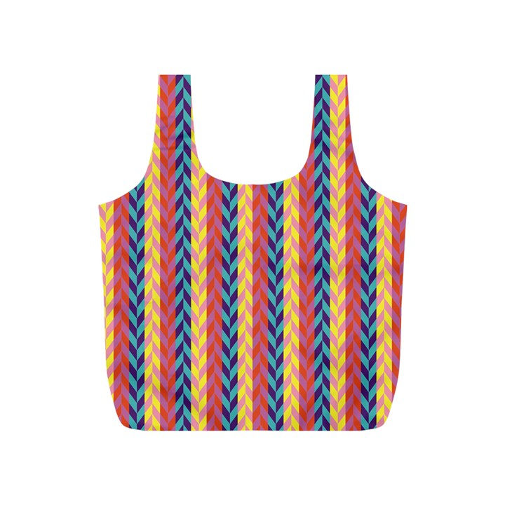 Colorful Chevron Retro Pattern Full Print Recycle Bags (S)