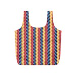 Colorful Chevron Retro Pattern Full Print Recycle Bags (S)  Back