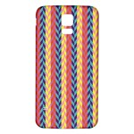 Colorful Chevron Retro Pattern Samsung Galaxy S5 Back Case (White) Front