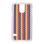 Colorful Chevron Retro Pattern Samsung Galaxy S5 Case (White) Front